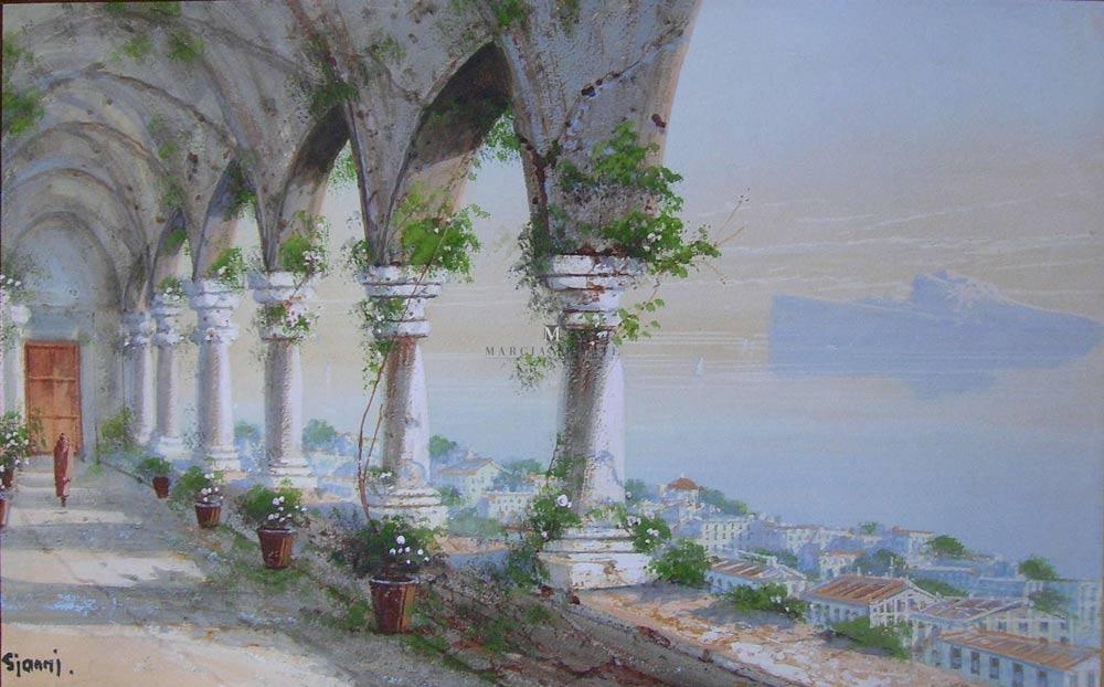 Capri Island from St. Martin Monastery