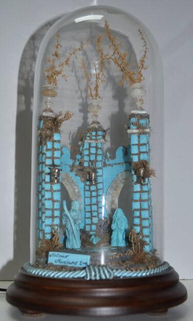 Presepe di turchese sotto campana di Antonio Marciano