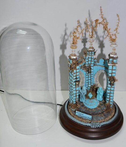 Presepe di turchese con campana di vetro di Antonio Marciano