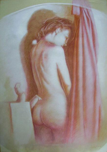 Disegno di Napoletano Antonio, studio del 1986 su cartoncino 70x50 cm