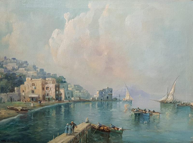 Dipinto di Giuseppe Salvati, Marina