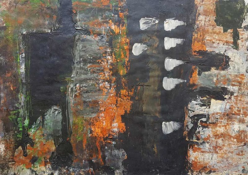 Dipinto astratto di Gennaro Avano