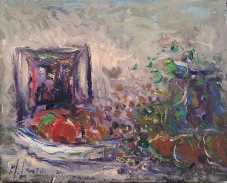 """Dipinto di Michele Lanzo, """"Natura morta"""""""