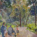 foto del dipinto di errico placido raffigurante il bosco di portici
