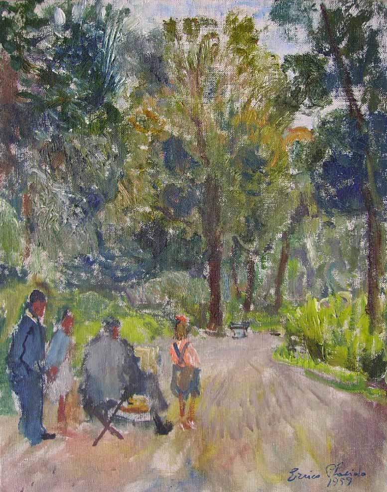 Errico Placido, Il pittore nel Real Bosco di Portici
