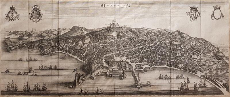 """Stampa antica """"Napoli"""" di Pierre Mortier"""