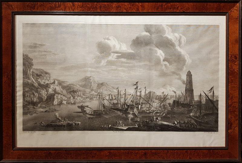 acquaforte del 1732 da un dipinto di Salvator Rosa