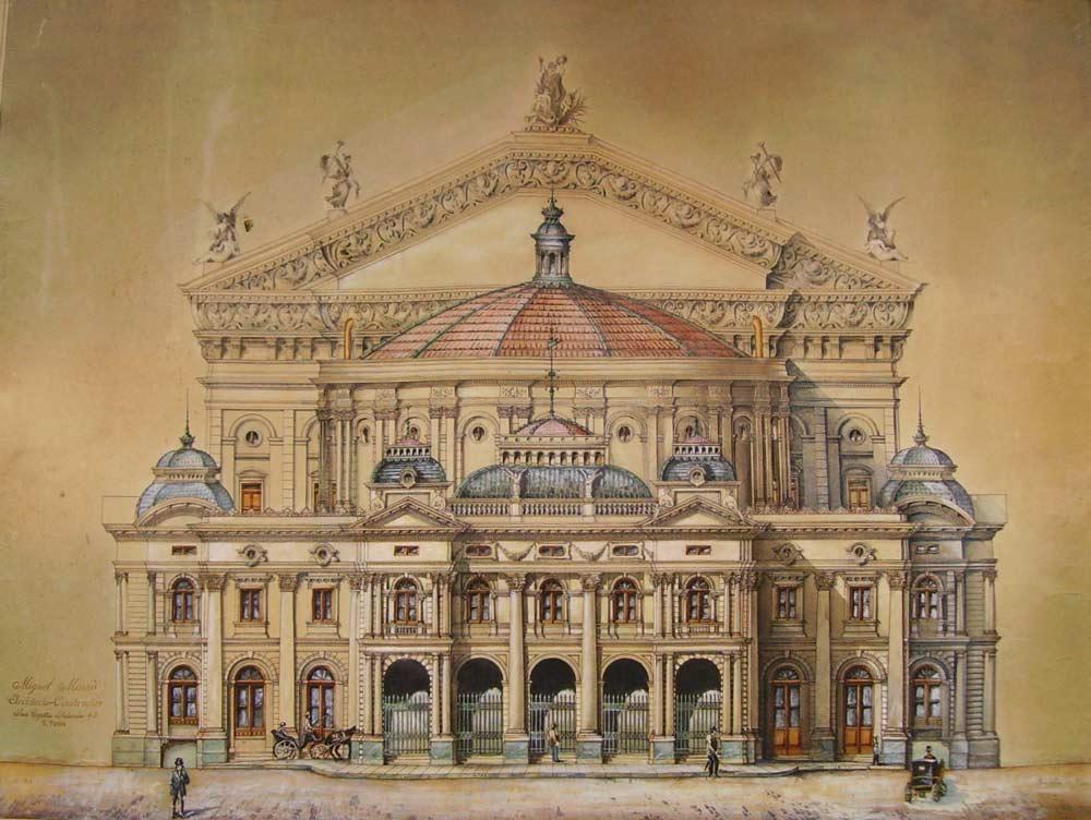 """Teatro Municipale """"San Josè"""" di San Paolo del Brasile (in scala 1/100)"""