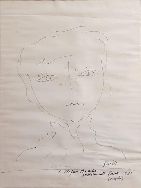 disegno di Virgilio Guidi, testa