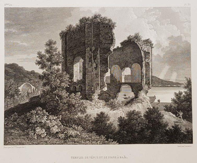 stampa antica di Turpin de Crissè (i templi di Baia)