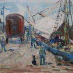 quadro del pittore guido casciaro titolo al porto