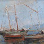 dipinto di luigi crisconio barche