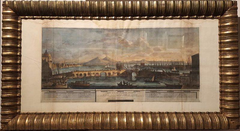 foto della stampa antica di ponte nuovo con cornice