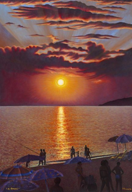 dipinto di Vincenzo Perna tramonto