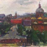 quadro del pittore rubens capaldo raffigurante roma