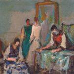 dipinto del pittore alberto chiancone sartine
