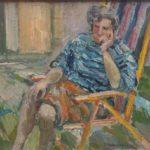 dipinto di carlo verdecchia titolo figura seduta