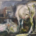 dipinto di carlo verdecchia, tela di 40x50 cm