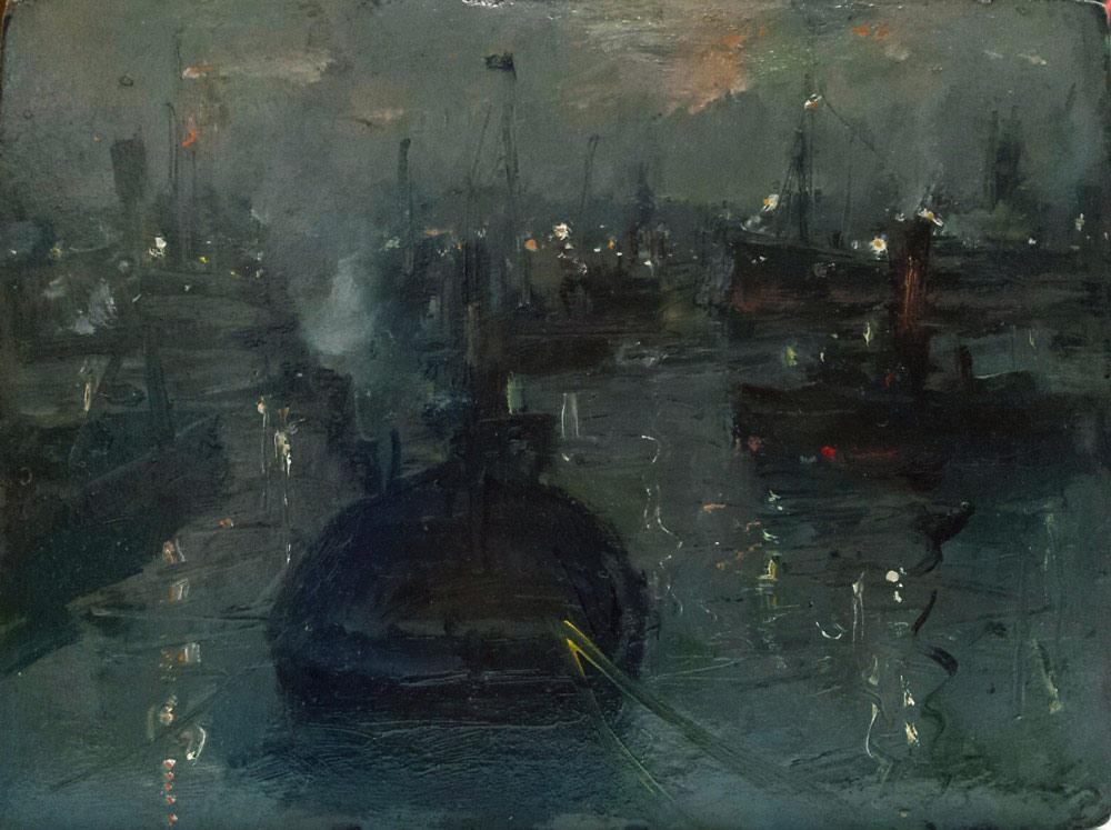 Gennaro Villani, Nel porto di sera