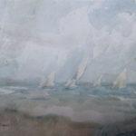 """Foto dell'acquerello del pittore Gennaro Villani """"regata"""""""