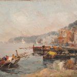 dipinto di francesco di marino tavoletta 25x35 cm