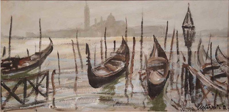 foto del dipinto di antonio asturi venezia