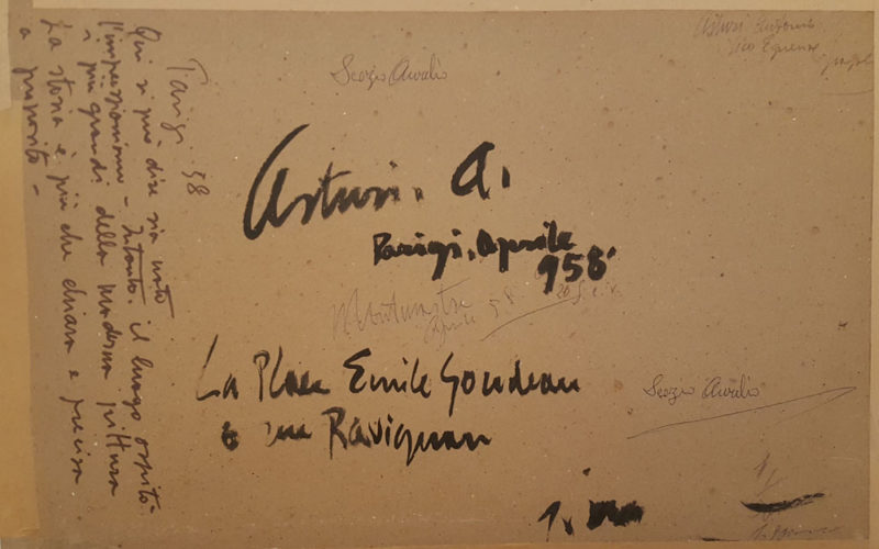 Foto del retro del dipinto di Antonio Asturi Parigi