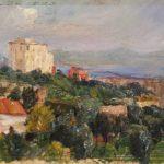 dipinto del pittore amerigo tamburrini veduta di torre del greco