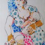 disegno di giovanni ricciardi maternita'