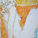 foto del pastello di giovanni ricciardi modella nuda