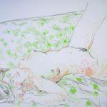 disegno del pittore giovanni ricciardi nudo disteso