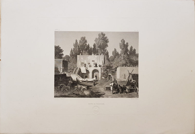 stampa antica di Turpin de Crissè raffigurante Pozzuoli
