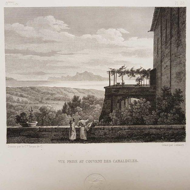 stampa antica di Turpin de Crissè, Napoli, Camaldoli