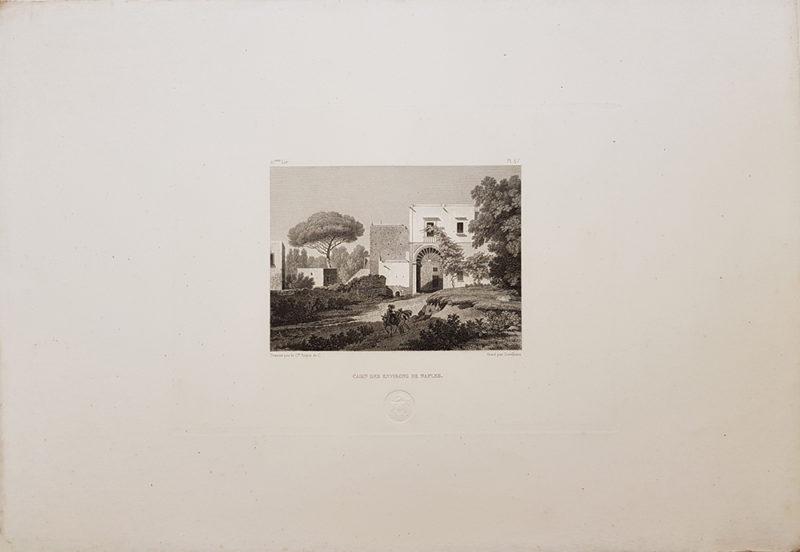 Foglio intero della stampa antica di Turpin de Crissè, casa napoletana