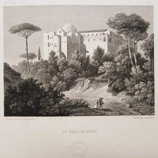 stampa antica di Turpin de Crissè, Napoli, santa Maria ai monti