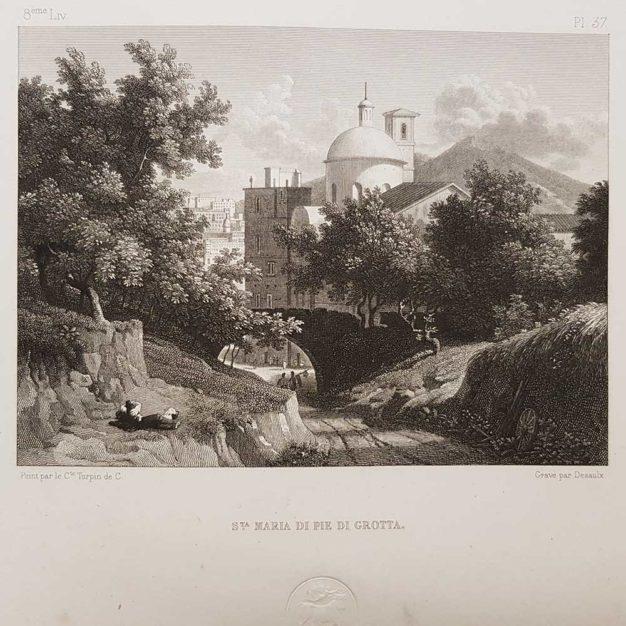 stampa antica di Turpin de Crissè, Napoli, Piedigrotta