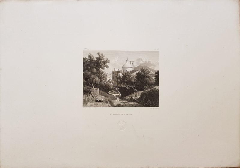 Foglio intero della stampa antica di Turpin de Crissè, Napoli, Piedigrotta