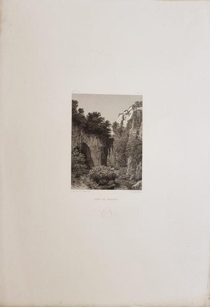 Foglio intero della stampa antica di Turpin de Crissè, Sorrento, Burrone di Sorrento