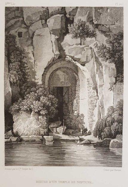 stampa antica di Turpin de Crissè, Sorrento, Resti di un tempio di Nettuno