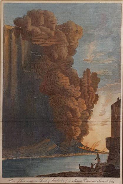 Stampa antica di Eastgate: eruzione del Vesuvio del 1794