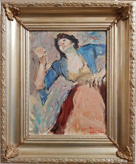 Dipinto di Carlo Striccoli con cornice.