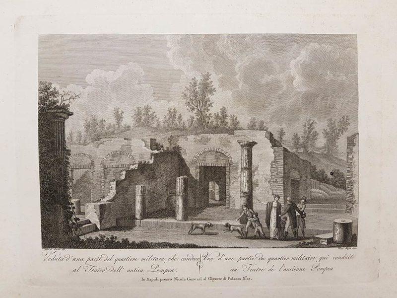 stampa antica di aloja e d'anna su pompei