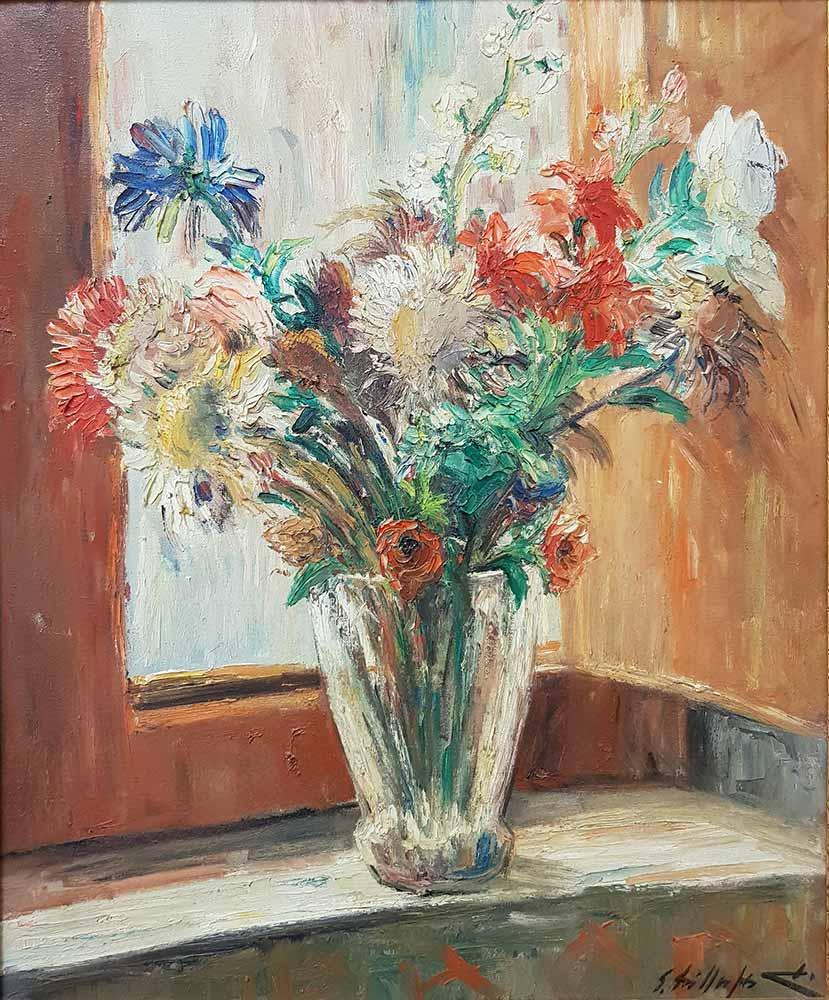 Edmondo Di Napoli, Vaso con fiori