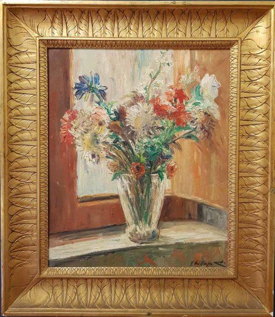 Dipinto di Edmondo di Napoli, Vaso con fiori