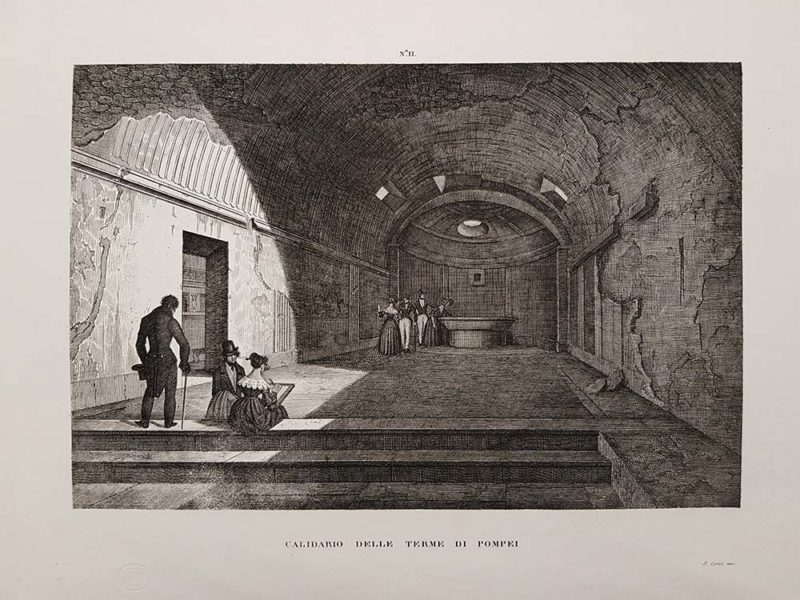 Stampa antica di Zuccagni Orlandini, Pompei