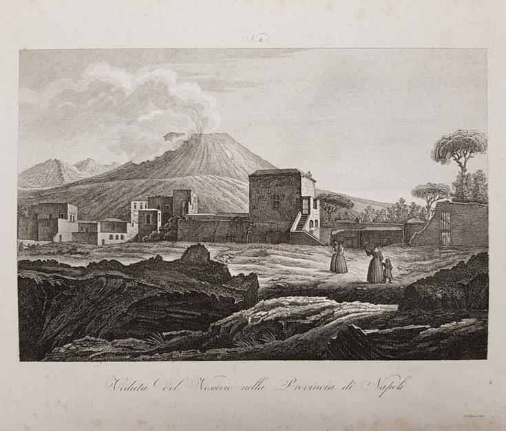 Stampa antica di Attilio Zuccagni Orlandini, Vesuvio