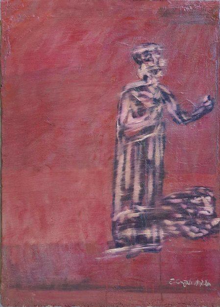 Dipinto di Cajati Enrico raffigurante sacerdotessa greca