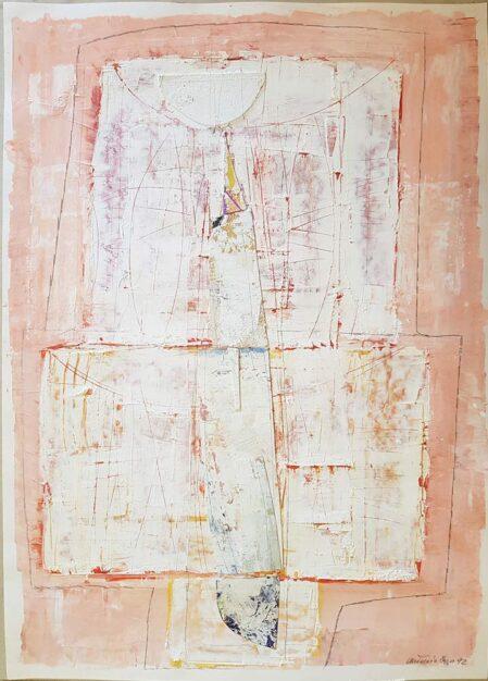 Antonio Izzo, dipinto su carta 50x70 cm del 1992