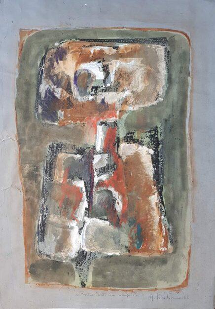 """Dipinto di Antonio Siciliano """"Figura"""" del 1962"""