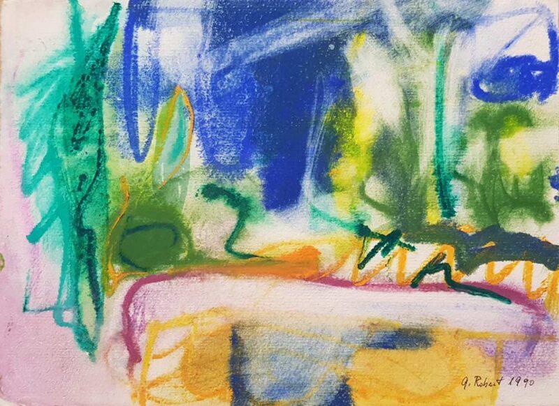 dipinto astratto di Robert Gisela Oltre il muro
